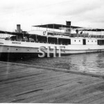 ZEPHYR 1906-1966 at Barrack St. wharf, Perth c.1963. SHF Col