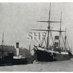 ZIBENGALA SS,BI.with paddle tug, 1899-1910.