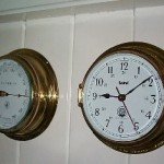 Clock - barometer close up