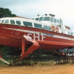l ENTERPRISE,ex MANLY 1964. Rosslyn Bay, 1987. SHF Coll.