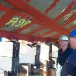 John Oxley new keel supports - barry jones and colin crispo review the first batch of new keel supports