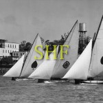 18 foot skiffs, Brisbane 1952.