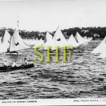 6 foot dinghies, Balmain 6 ft Dinghy Sailing Club, early 1900's.