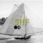 ARGUS, 18 foot skiff, Brisbane 1958.