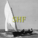 EVELYN, 16 foot skiff Championships Brisbane, 1953.
