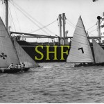 FLYING FISH, JENNY III, 18 foot skiffs, 1950.
