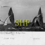 FLYING FISH, YENDYS, 18 foot skiffs on Sydney Harbour 1938.
