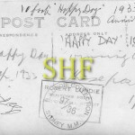 HAPPY DAY, 10 foot skiff, Reverse side, 1933.