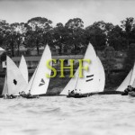 JAN, MARGAREITA and SCAMP, 18 foot skiffs, Manly, Brisbane 1950.