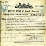 GAY, W. Pilotage Certificate Adelaide