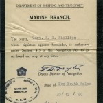 PHILLIPS, H.I. Authorisation to Board Certificate