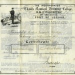 PHILLIPS, H.I. Certificate HMS Worcester