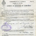 PHILLIPS, H.I. Licence as Adjuster of Compasses