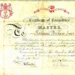 SNOOR, R.P. Certificate of Competency as Master