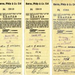Tickets issued December 1951 to Davidson sisters.