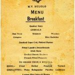 Menu on BULOLO for Thursday, 22 July 1954