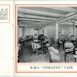 Brochure displaying OTRANTO on board services