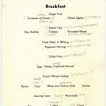 QUEEN MARY menu, 7 January 1941