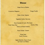 QUEEN MARY menu, 4 January 1941