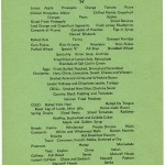 QUEEN MARY menu, July 1965