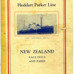 Cover of New Zealand Sailings and Fares brochure.