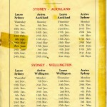 Sailing dates in brochure.