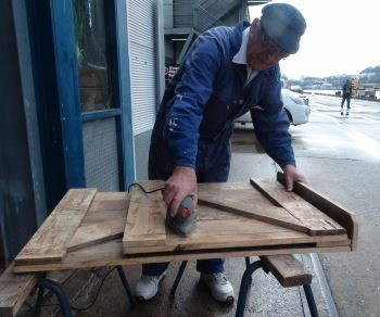 Sean fitted doors to one of the immigrant berths