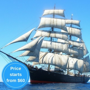 Book your sailing adventure on Tall Ship <i>James Craig</i>