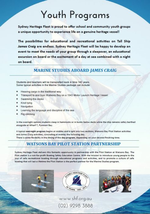 Youth Program Brochure - Marine Studies