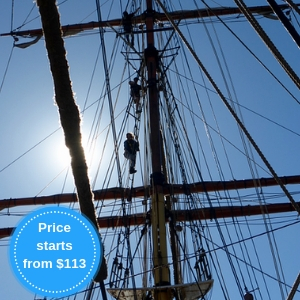 Book your afternoon adventure aboard Tall Ship <i>James Craig</i>