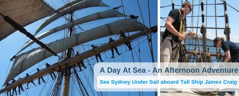 See Sydney Under Sail A Day At Sea An Afternoon Adventure on board Tall Ship James Craig