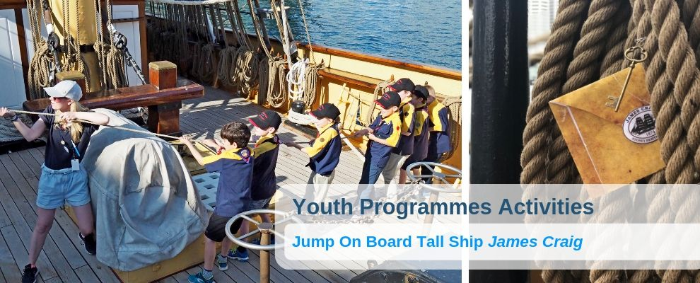 Youth Programs on board Tall Ship James Craig School Scout Girl Guide Activities